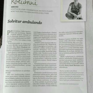Column / Finnish Post and Logistics Union Magazine 6/15