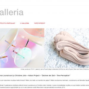 ogalleria.fi design + Wordpress customization