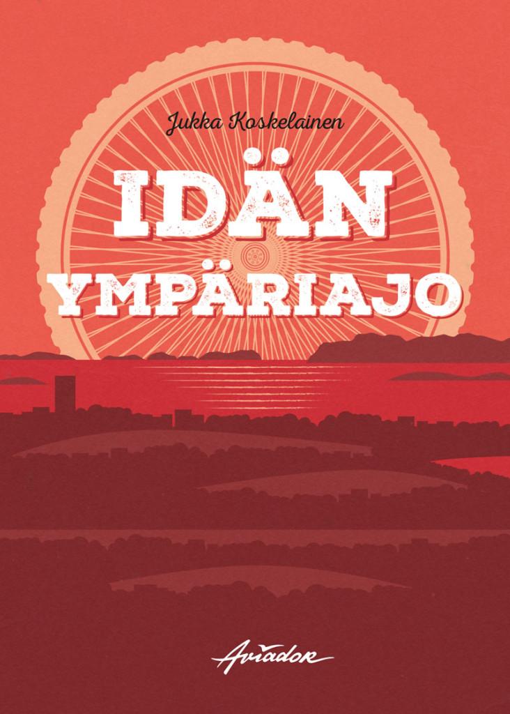 Idän ympäriajo book cover design